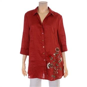 비꼴리끄 NC02 린넨자수롱셔츠 b172wb3030756