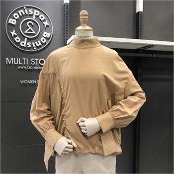 보니스팍스 NC02 하이넥 셔링 티셔츠 X38TS530