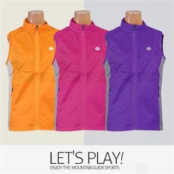 [마운틴가이드]봄여름 등산복/단체복/베스트/바람막이/여성 등산조끼 MLW-B91-01