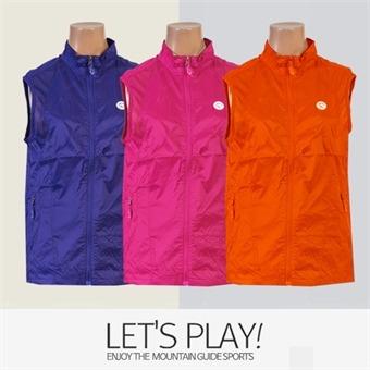 [마운틴가이드]봄여름 등산복/단체복/베스트/바람막이/여성 등산조끼 MLW-B91-04