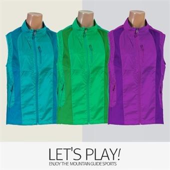 [마운틴가이드]봄여름 등산복/단체복/베스트/바람막이/여성 망사 등산조끼 CNW-B91-S02