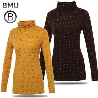 [BMU 골프웨어] 폴리스판 로고 도트 여성 귀달이 긴팔이너웨어/골프웨어_248125