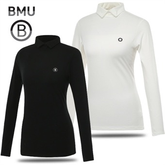 [BMU 골프웨어] 폴리스판 베이직 여성 카라넥 긴팔티셔츠/골프웨어_248127