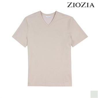 [지오지아][시즌오프] 우븐 매칭 트임 장식 티셔츠 I (ABX2TV1102)