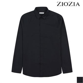 [지오지아] 히든버튼 시크 딥네이비 셔츠 (ADX3WC1101)_1st