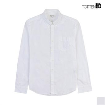[탑텐] 남성 베이직 화이트 캐주얼 셔츠(MSV1WC1002)