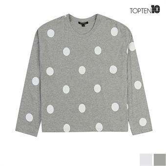 [탑텐] 도트패턴 라운드 티셔츠(MSU3TR2026)