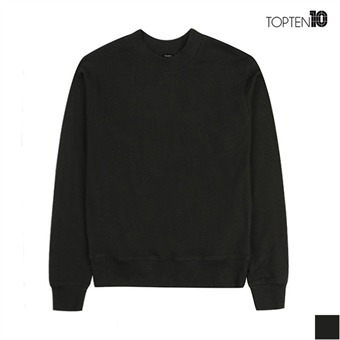 [탑텐] 차콜 기본 맨투맨 티셔츠(MSW3TR2001)