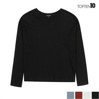 [탑텐] 면소재 슬럽 긴팔 티셔츠(MSU3TR2020)