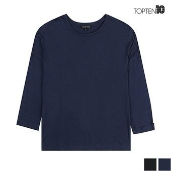 [탑텐] 면소재 슬럽 8부 티셔츠(MSU3TR2023)