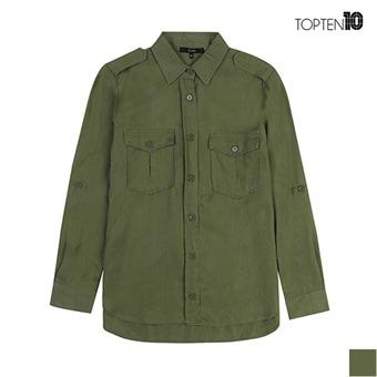 [탑텐] 소프트 터치감 밀리터리 셔츠(MSW3WC2003)