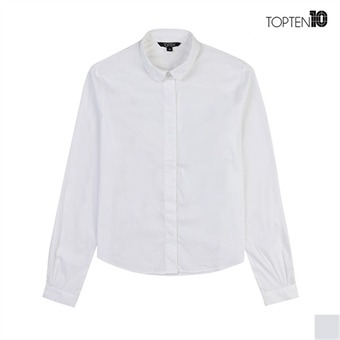 [탑텐] 라운드 카라 화이트 셔츠(MSV3WC2006)