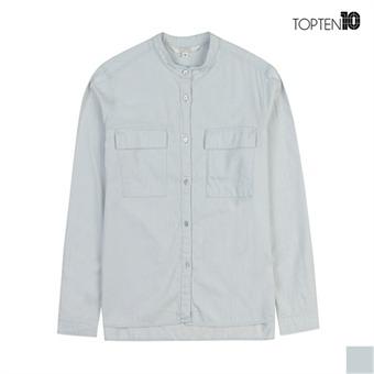 [탑텐] 차이나 카라 라이트 데님 셔츠(MSW1WC2051)
