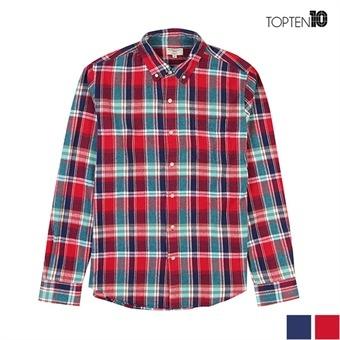 [탑텐] 베이직 캐쥬얼 체크 셔츠 (MSU4WC1009)