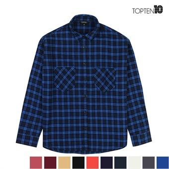 [탑텐] 투포켓 보들 체크 셔츠 (MSV4WC2901)