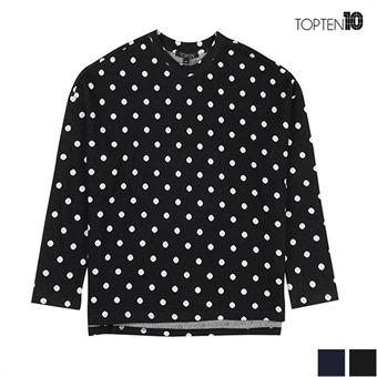 [탑텐] 도트 패턴 라운드 티셔츠 (MSV4TR2011)