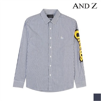 [시즌오프][지오지아] 캐릭터 잔줄 스트라이프 캐쥬얼 셔츠(BZX4WC1802)
