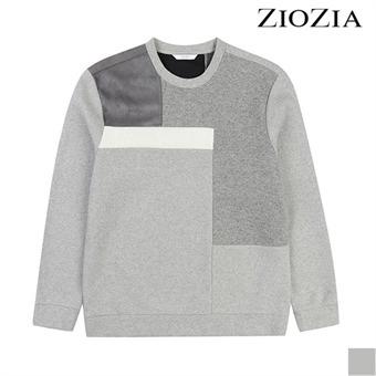 [지오지아][시즌오프] 면 본딩 컬러블럭 맨투맨 티셔츠 I (ABX4TR1101)