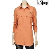 레터링 자수 플랩포켓 셔츠 CA (LC3BL100) 7,920