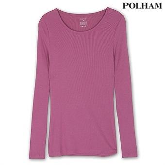여성 베이직 슬림 골지패턴 티셔츠 LPP (PS4H972)