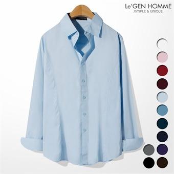 르젠 슬림절개라인 스판 슬림핏 셔츠(LNSH001DN)