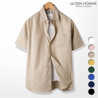 르젠 데일리 루즈핏 면마 반팔 셔츠(LNSH1440ME)