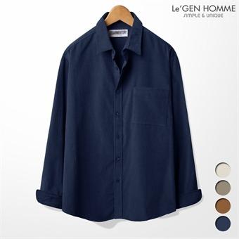 르젠 코르덴 심플 싱글포켓 루즈핏 셔츠(LNSH1782ME)