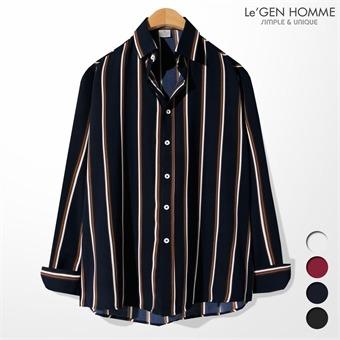 르젠 3도배색라인 노멀핏 쉬폰 셔츠(LNSH1827SS)