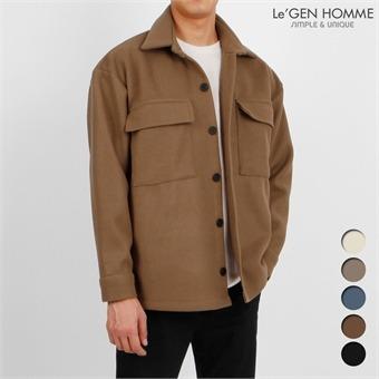 르젠 울10% 오버핏 트윈플랩포켓 셔츠자켓(LNJK1063RM)