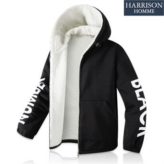 [해리슨] 넘버블랙 특기모 남자 양털 스트링 후드 자켓 RTW1824