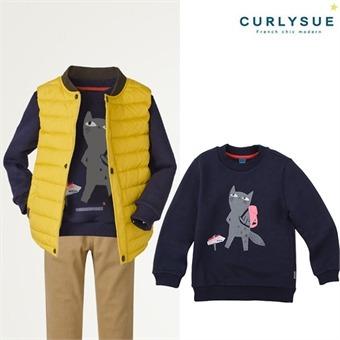 [컬리수] 유니크 캣맨투맨티셔츠(기모) CLW1XQTS55NA [겨울]