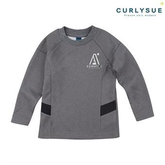 [컬리수] 로고플레이 쿠션지티셔츠(기모) CLW1XQTS88GR [겨울]
