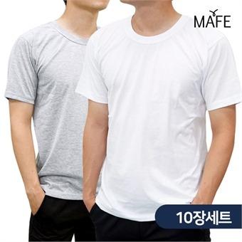 무료배송 메이프 반팔 베이직 라운드 티셔츠 10장(화이트/그레이)
