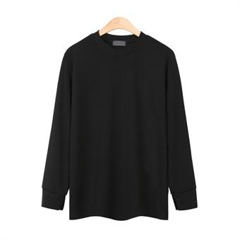 [레디핏] 기획소매컷팅 라운드 블랙 티셔츠_CMT023
