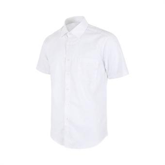 [레디핏] 사선 패턴 화이트 레귤러 반팔 셔츠_DW41-7