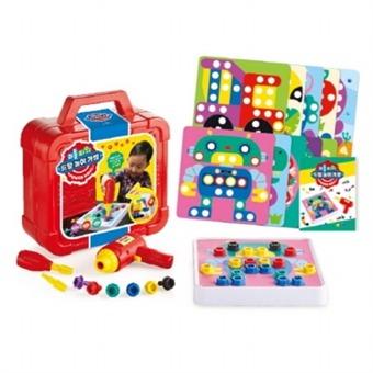 [애플비북스] 리틀 파워 드릴 놀이 가방 : 협응력 집중력 창의력|전동 드릴로 조이고 풀면서 다양하게 놀이해요!