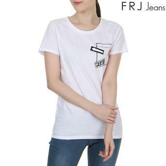 여성 프린팅 포켓 티셔츠 WT (F62F-TM493B)