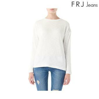 여성 골테이프 장식 티셔츠 (F63F-TS517A)