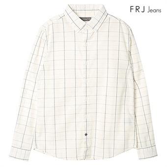 남성 칼라 블록 프린팅 셔츠 WH (F63M-SH038A)