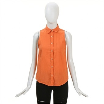 [스파오] 여성 린넨 코튼 민소매 셔츠(SPYW324G35_OR)