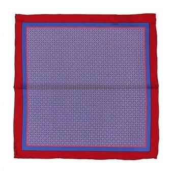 [스파오] 페이즐 잔꽃 패턴 배색 행커칩(SPAS326M43_RE)