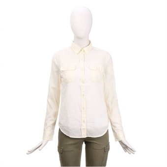 [스파오] 여성 아웃포켓 아사 셔츠(SPYW424G35_IV)