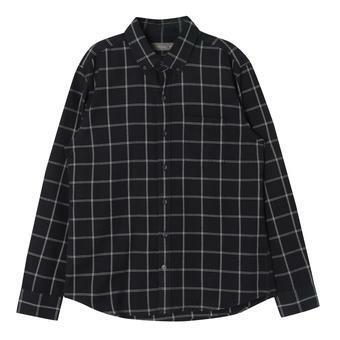 남성 블럭 체크 셔츠 NV (F64M-SH069A)