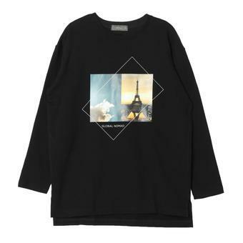 여성 전사 프린팅 티셔츠 BK (F64F-TS529A)