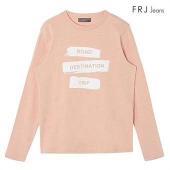 여성 호일 프린트 레터링 티셔츠 LPI (F71F-TS52ZB)