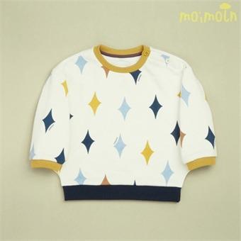 [모이몰른] 다이아 티셔츠(기모) MMW0BQTS17 [겨울]