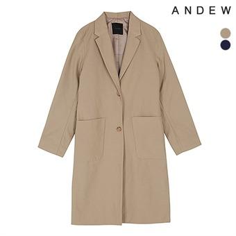여성 싱글 아웃포켓 코트(O173CT500P)