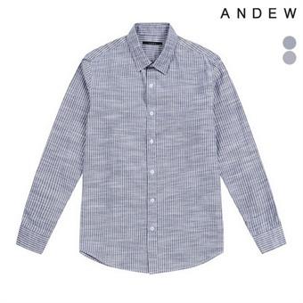 남성 기본카라 스트라이프 패턴 셔츠(O173SH200P)
