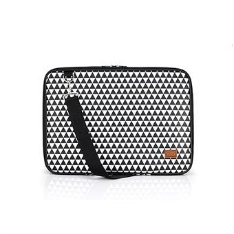 노트북가방 14.1인치 삼각트라이앵글 블랙 심플형