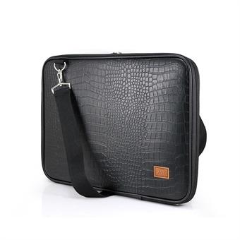 노트북가방 14.1인치 악어가죽 블랙 심플형